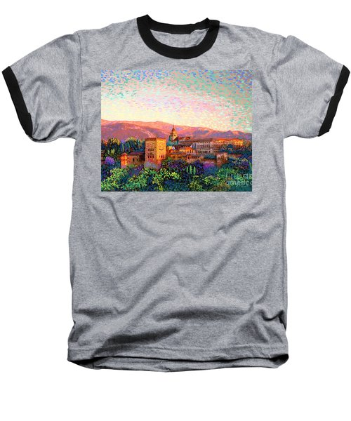Baseball T-Shirt featuring the painting Alhambra, Grenada, Spain by Jane Small