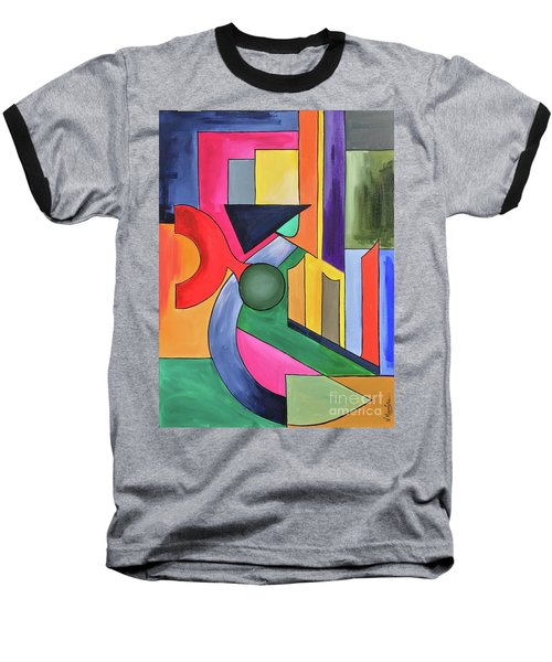 Baseball T-Shirt featuring the painting Alhamdu-lillah-3 by Nizar MacNojia
