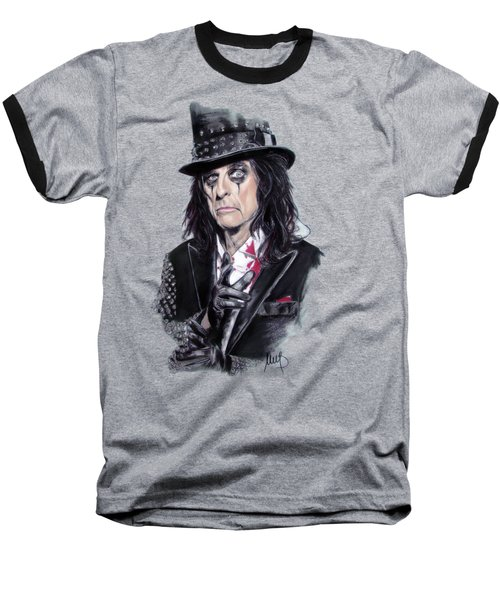 Alice Cooper Baseball T-Shirt by Melanie D