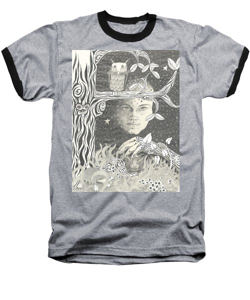 Alice Syndrome Baseball T-Shirt by Melinda Dare Benfield