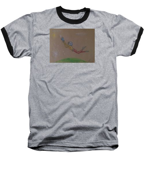 Alien Chasing His Dreams Baseball T-Shirt by Similar Alien