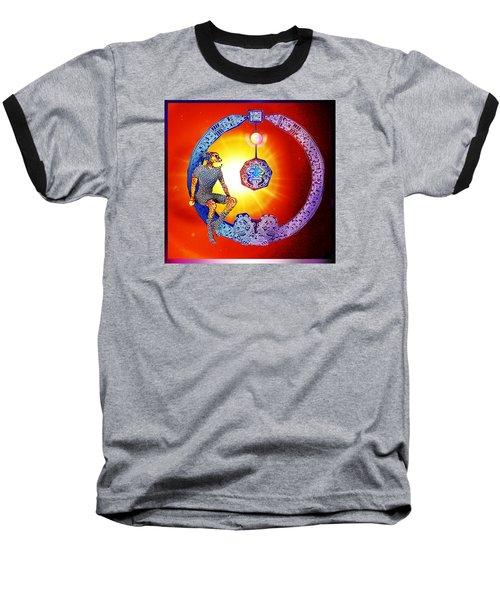 Alien  Dream Baseball T-Shirt by Hartmut Jager