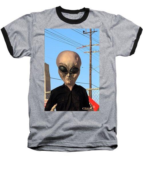 Alien Face At 6th Street Bridge Baseball T-Shirt