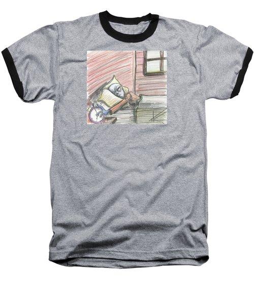 Alien Keeps Snoozin Baseball T-Shirt