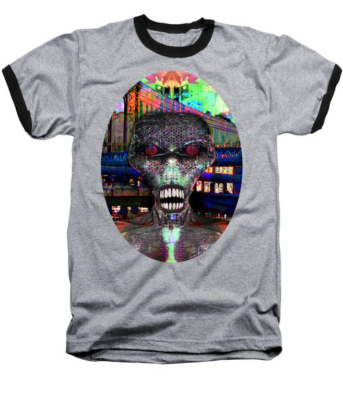 Alien Portrait Baseball T-Shirt