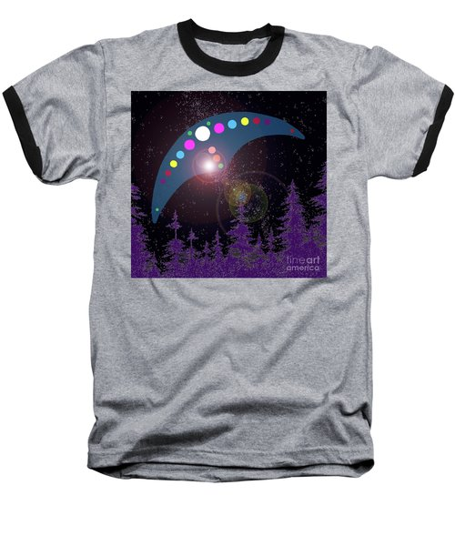 Baseball T-Shirt featuring the painting Alien Skies by James Williamson