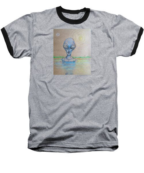 Alien Submerged Baseball T-Shirt