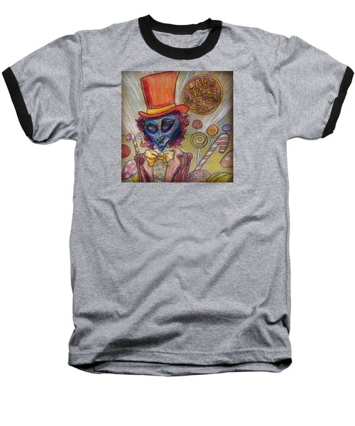 Alien Wonka And The Chocolate Factory Baseball T-Shirt