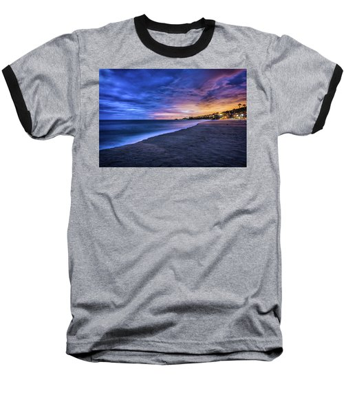 Aliso Beach Lights Baseball T-Shirt