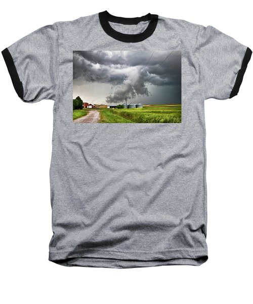 Alive Sky In Wyoming Baseball T-Shirt