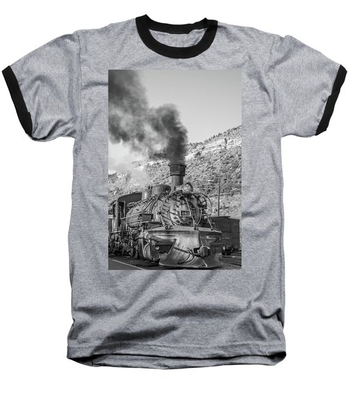 Baseball T-Shirt featuring the photograph All Aboard by Colleen Coccia
