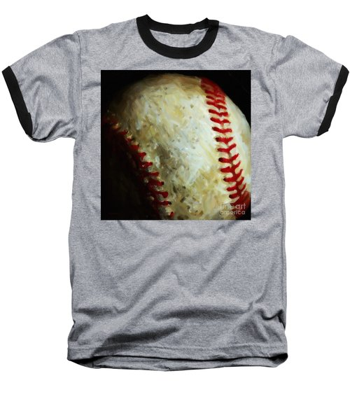 All American Pastime - Baseball - Square - Painterly Baseball T-Shirt