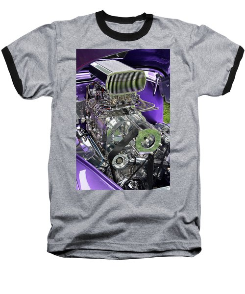 All Chromed Engine With Blower Baseball T-Shirt
