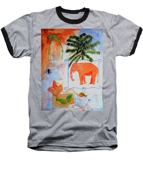 Baseball T-Shirt featuring the painting All Creatures Great And Small by Sandy McIntire
