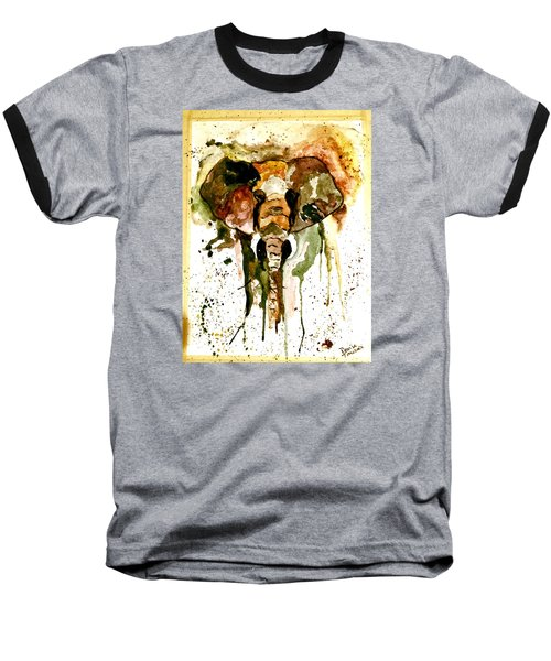 Baseball T-Shirt featuring the painting All Ears by Denise Tomasura
