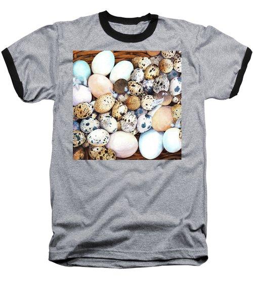 All My Eggs In One Basket Birds Egg Print Baseball T-Shirt