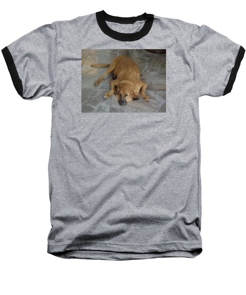 All Pooped Out Baseball T-Shirt by Val Oconnor