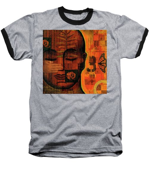 All Seeing Baseball T-Shirt by Gloria Rothrock