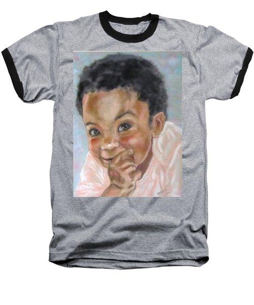All Smiles Baseball T-Shirt by Barbara O'Toole
