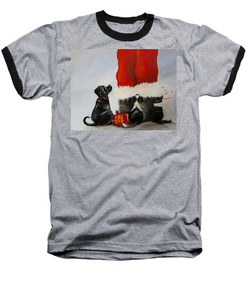 All The Fur Kids Love Santa Baseball T-Shirt