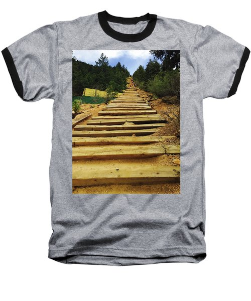 All The Way Up Baseball T-Shirt by Christin Brodie