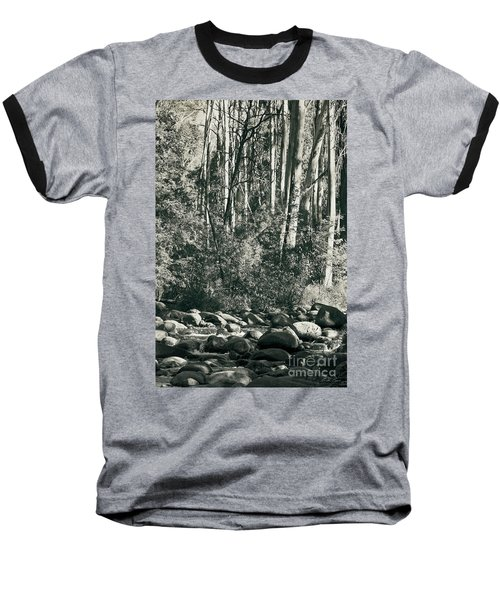 Baseball T-Shirt featuring the photograph All Was Tranquil by Linda Lees