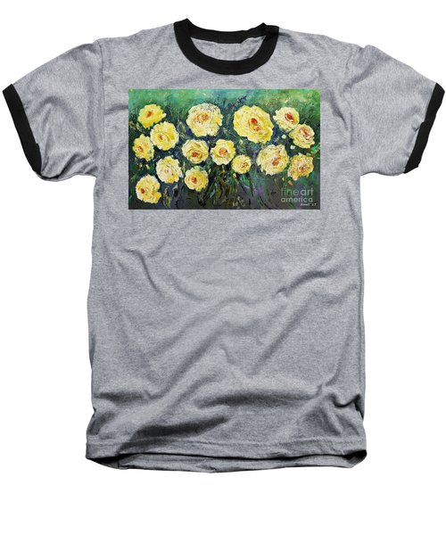 All Yellow Roses Baseball T-Shirt
