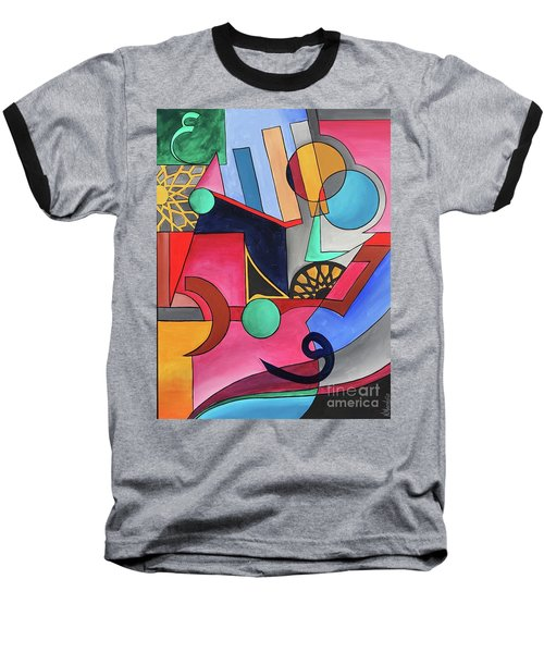 Baseball T-Shirt featuring the painting Allah-muhammad by Nizar MacNojia