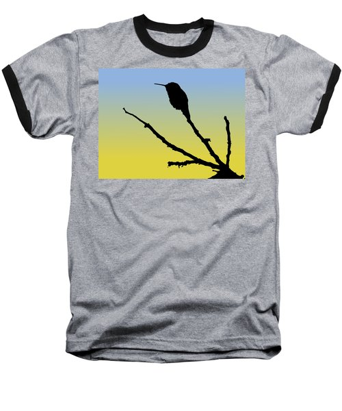 Allen's Hummingbird Silhouette At Sunrise Baseball T-Shirt