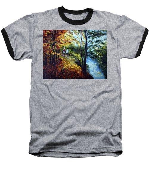 Alley By The Lake 1 Baseball T-Shirt