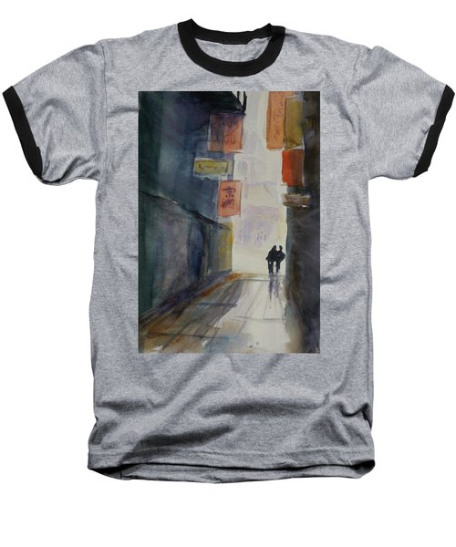 Alley In Chinatown Baseball T-Shirt by Tom Simmons