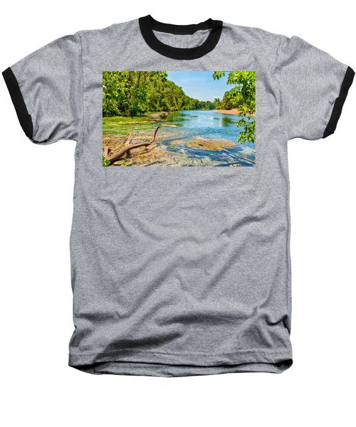Alley Springs Scenic Bend Baseball T-Shirt by John M Bailey