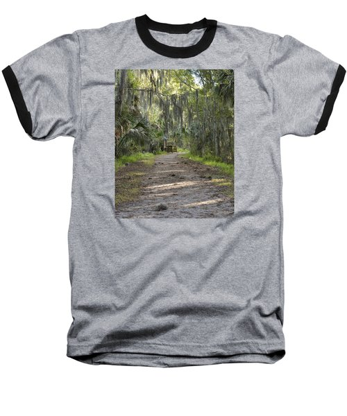 Alligator Alley Baseball T-Shirt by Carol  Bradley