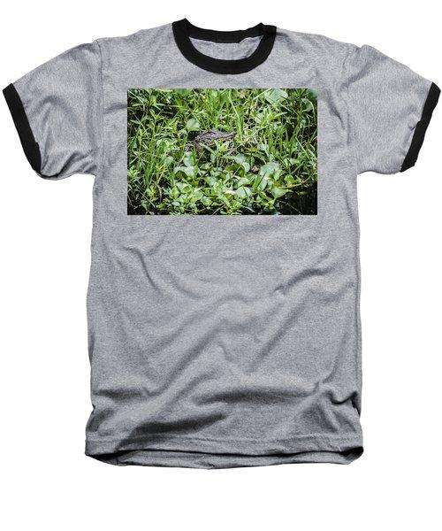 Alligator In Duck Weed, Louisiana Baseball T-Shirt