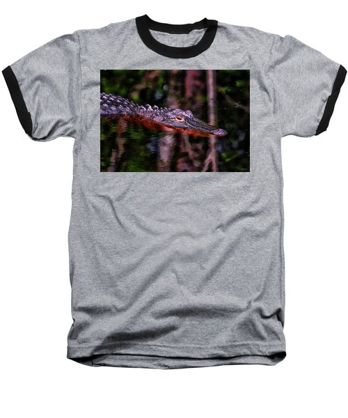 Alligator Waiting 003 Baseball T-Shirt