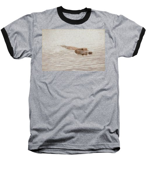 Alligator Waiting In The Water Baseball T-Shirt
