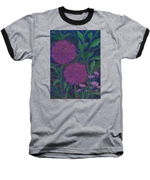 Allium And Geranium Baseball T-Shirt