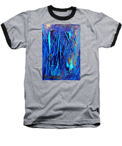 Baseball T-Shirt featuring the painting Alll That Glitters by Mary Sullivan