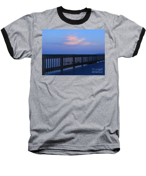 Baseball T-Shirt featuring the photograph Alls Quiet On The Beach Front by Emmy Marie Vickers