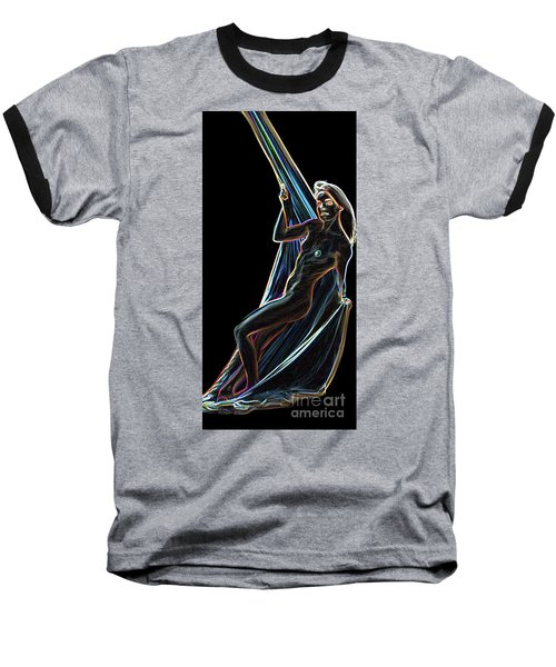 Baseball T-Shirt featuring the painting Allure by Tbone Oliver