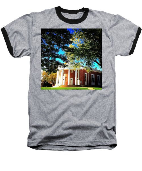 Alma College Dunning Memorial Chapel Baseball T-Shirt