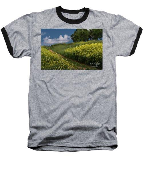 Almaden Meadows' Mustard Blossoms Baseball T-Shirt