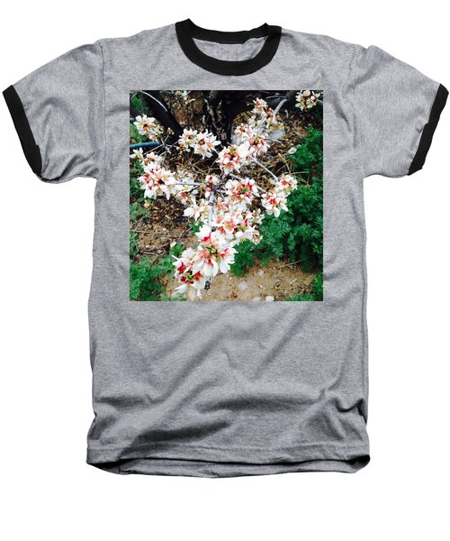 Baseball T-Shirt featuring the photograph Almond Blossoms by Erika Chamberlin
