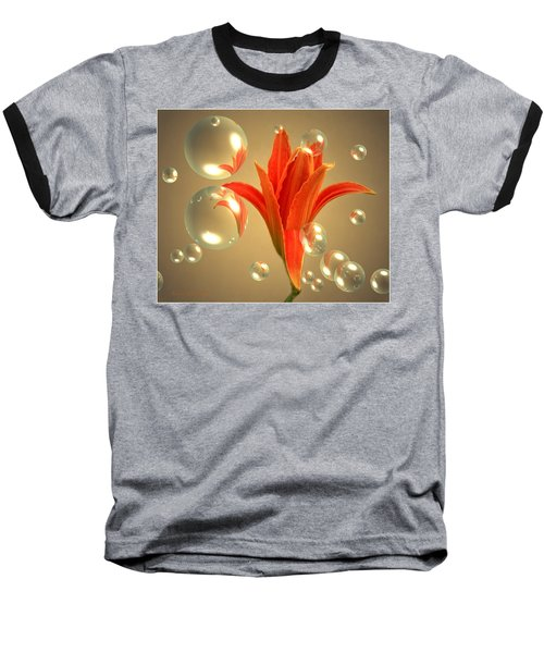 Baseball T-Shirt featuring the photograph Almost A Blossom In Bubbles by Joyce Dickens