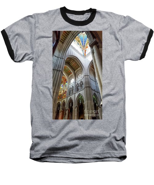 Almudena Cathedral Interior In Madrid Baseball T-Shirt
