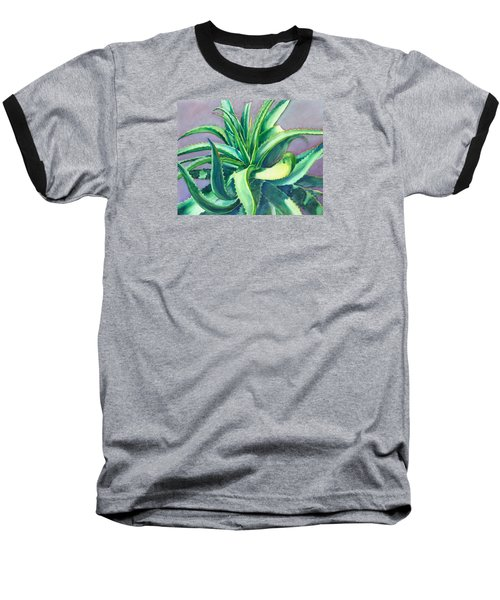 Aloe Vera Watercolor Baseball T-Shirt