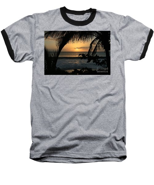 Aloha Aina The Beloved Land - Sunset Kamaole Beach Kihei Maui Hawaii Baseball T-Shirt by Sharon Mau