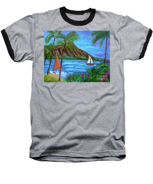 Aloha Diamond Head Baseball T-Shirt