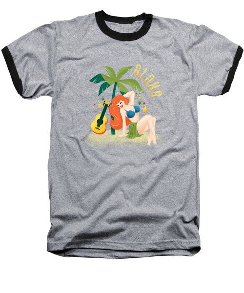 Aloha From Sunny Hawaii Wish You Were Here Baseball T-Shirt