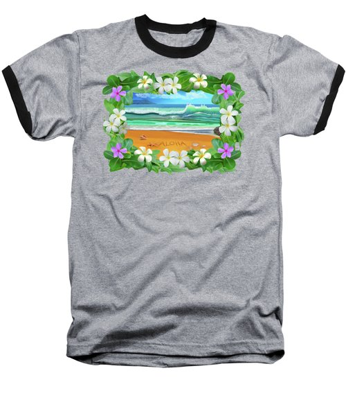 Aloha Hawaii Baseball T-Shirt by Glenn Holbrook